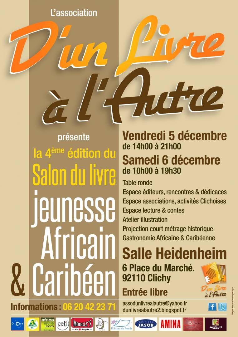 Salon du livre jeunesse africain et carib en 4 salons - Salon du livre troyes ...